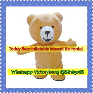 Teddy Inflatable Mascot for rental