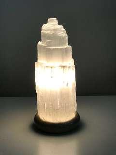 Selenite Lamp (23cm x 10cm)