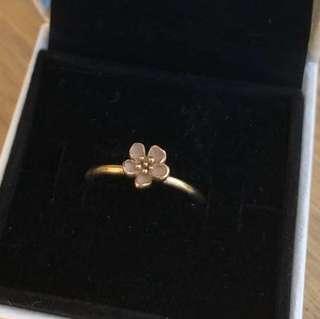 PANDORA 14K Gold Cherry Blossom Ring - Size 54