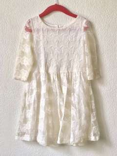 H&M Off-White Lace Dress
