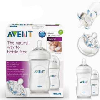 Philips Avent Natural Range 260ml Feeding Bottles