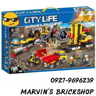 SY6999 City Mining Experts Site Building Blocks Toys