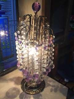 紫水晶白水晶燈