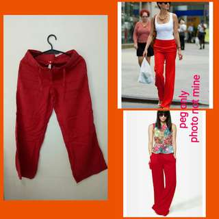 Red Square Pants (w/drawstring)
