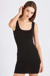 Basic Singlet Black Bodycon Dress