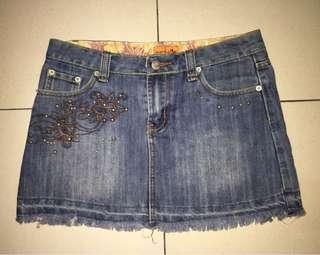 Pre-Loved. NATASHA Ladies Denim Mini Skirt