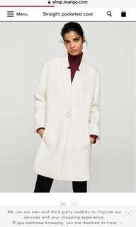 Classy Cream MANGO Trench Coat