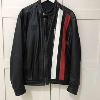 (Reduced) TAG HEUER LEATHER JACKET
