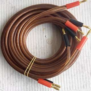 1 Pair Gale 2.0m Speaker Cables from UK