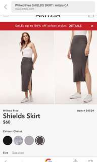Wilfred Sheilds Skirt Dark Grey Size Small