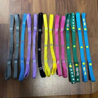 Stroller Toy and Bottle Straps (16 Pieces)