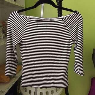 Vera moda off the shoulder striped top