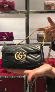 全新Gucci Marmort super mini bag (black)