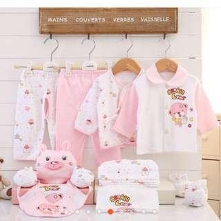 17pcs Set Newborn Baby Clothes Infants Clothing Suit Outfits