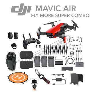 DJI Mavic Air Fly More Super Combo **1 Year + Extended 6 Months Warranty**