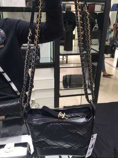 全新Chanel grabrielle hobo bag (small/navy blue)