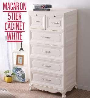 5 Tier White Cabinet