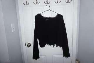 BNWT Ripped knit sweater