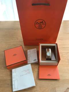 Hermes Clipper two tone watch