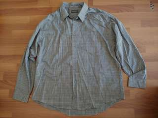 Van Heusen Checkered Long Sleeve Polo
