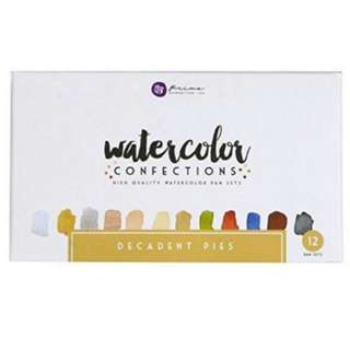 Brand New Prima Marketing Watercolor Confections: Decadent Pies