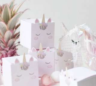 Lovely Unicorn candy boxes for party favors