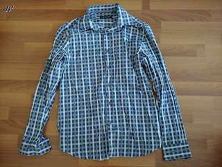 Report Collection Checkered Long Sleeve Shirt