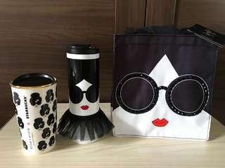 Limited(2017) Edition Starbucks Alice + Olivia Mug, Tumbler & Tote Bag