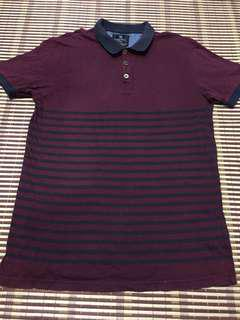 Stripe Polo shirt cotton on