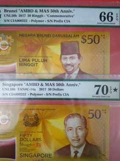 Singapore Brunei Cia identical set 000222