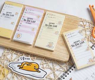 Gudetama To Do List Memo Pad