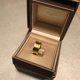 bvlgari 18k yellow gold ring