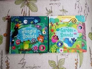 Usborne Sound Books (Bundle): Garden Sounds and Jungle Sounds