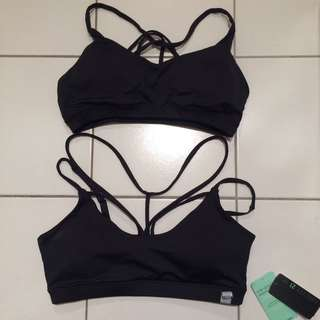 2 FOR $15 black strappy sports bras from forever 21