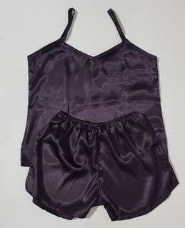 Lille Basic Silk Sleepwear Set (Sangria)