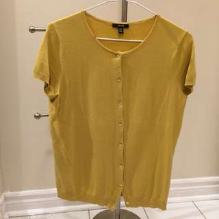 Mustard button up short sleeve
