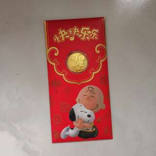 SK Snoopy 999 Gold Coin