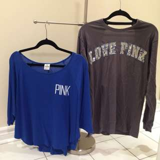VS PINK tops- $15 each/both for $20