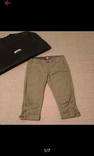 🚚 古著 HUGO BOSS 復古條紋 特殊設計 6分  燈籠褲