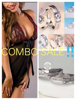 COMBO SALE! Couple Rings+Lingerie