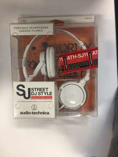 Audio Technica ATH-SJ11 SonicFuel Audio Headphones - White