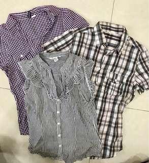 REPRICED! Bundle of 3 casual blouses medium
