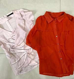 REPRICED! Bundle of 2 office tops small