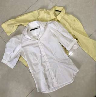 REPRICED! Bundle of 2 RL & M&S office blouses small