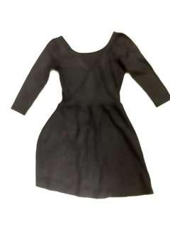 Stradivarius black low back dress medium