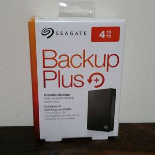 Seagate 4TB backup plus NEW in box portable external hard drive HDD USB 3.0