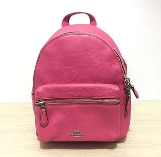 Coach Charlie Mini Backpack Magenta