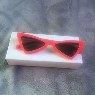 Sunglasses red retro