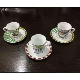 6 pieces fine ceramic expresso set