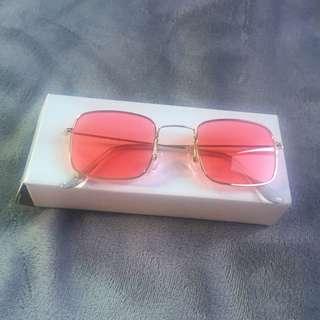 Sunglasses jelly red retro